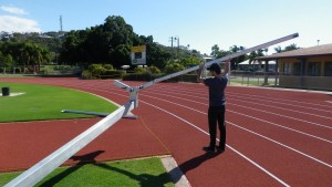 Installing the Thor 10 Hammer Cage at Townsville's Sports reserve